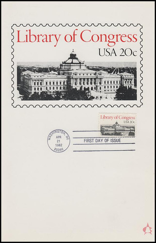 2004 / 20c Library of Congress 1982 Andrews Cachet Maxi Card FDC
