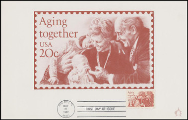 2011 / 20c Aging Together 1982 Andrews Cachet Maxi Card FDC