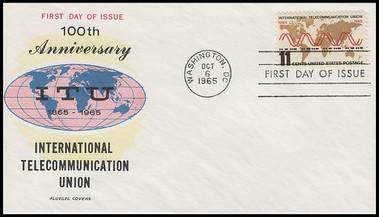 1274 / 11c International Telecommunication Union 1965 Fluegel FDC