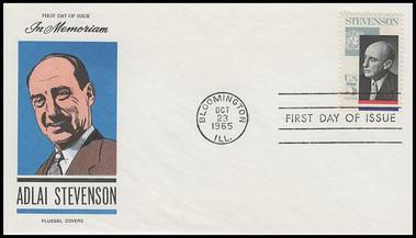 1275 / 5c Adlai Stevenson 1965 Fluegel First Day Cover