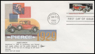 2381 - 2385 / 25c Classic Cars Booklet Set of 5 Gill Craft 1988 FDCs