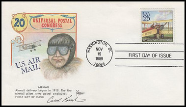 2434 - 2437 / 25c Classic Mail Delivery Set of 4 Gill Craft 1989 FDCs 2 w / Artist Signatures