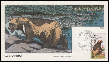 2327 / 22c Wolverine 1987 Collins Hand-Painted First Day Cover