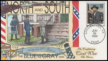 2975a - t / 32c Civil War Set of 20 Collins Hand-Painted First Day Covers