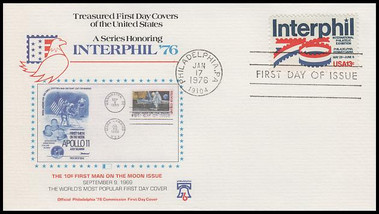 1632 / 13c Interphil '76 Set of 6 Fleetwood 1976 First Day Covers