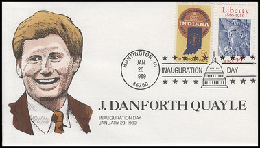 J. Danforth Quayle '89: Vice President Inaugural Collins Hand-Painted 1989 Cover