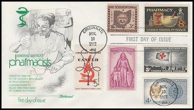 1473 / 8c Pharmacy : Saluting Pharmacists Combo Fleetwood 1972 FDC