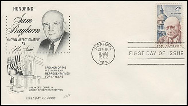 1202 / 4c Sam Rayburn 1962 Fleetwood First Day Cover