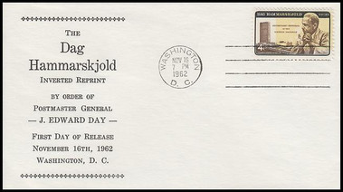 1204 / 4c Dag Hammarskjold Inverted Special Printing 1962 Fleetwood First Day Cover