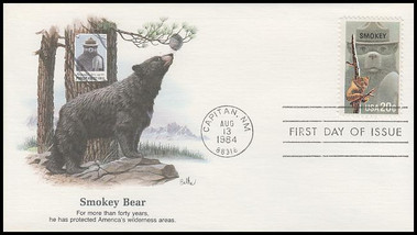 2096 / 20c Smokey Bear / Fire Prevention 1984 Fleetwood First Day Cover