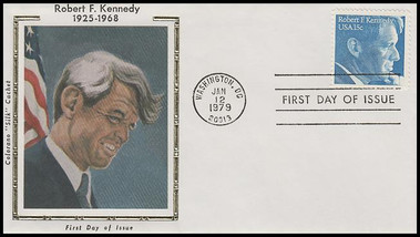 1770 / 15c Robert F. Kennedy 1979 Colorano Silk FDC