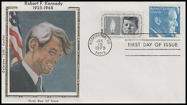 1770 / 15c Robert F. Kennedy Combo 1979 Colorano Silk FDC