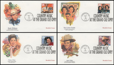 2775 - 2778 / 29c Legends of Country and Western Music Booklet Set of 4 Fleetwood 1993 FDCs