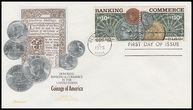 1578a / 10c Banking and Commerce Se-Tenant Pair Fleetwood 1988 FDCs