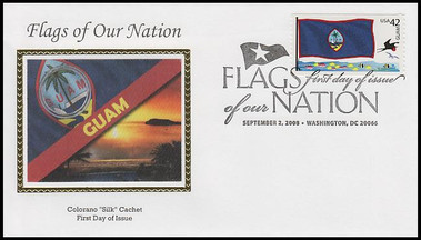 4283 - 4292 / 42c Flags of Our Nation Set of 10 PNC Colorano Silk 2008 FDCs