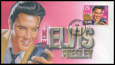 2721 / 29c Elvis Presley 1993 Therome Cachets FDC #2