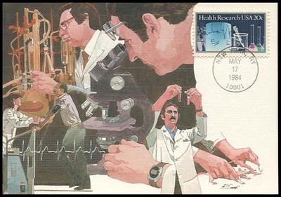 2087 / 20c Health Research 1984 Fleetwood Maximum Card
