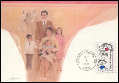 2104 / 20c Family Unity 1984 Fleetwood Maximum Card