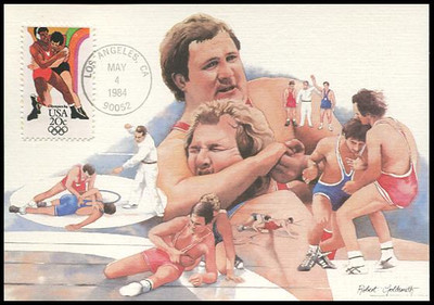 2082 - 2085 / 20c Summer Olympics Set of 4  Fleetwood 1984 Maximum Card