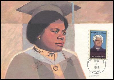 2137 / 22c Mary McLeod Bethune : Black Heritage Series 1985 Fleetwood Maximum Card