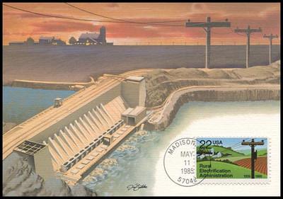 2144 / 22c Rural Electrification Administration 1985 Fleetwood Maximum Card