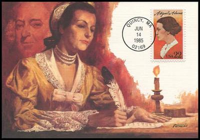 2146 / 22c Abigail Adams 1985 Fleetwood Maximum Card