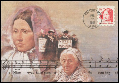 2176 / 14c Julia Ward Howe : Great Americans Series 1987 Fleetwood Maximum Card