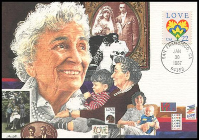 2248 / 22c Love Stamp 1987 Fleetwood First Day of Issue Maximum Card