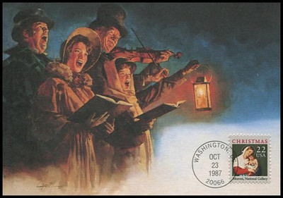 2367 / 22c Madonna and Child by Moroni : Christmas Series 1987 Fleetwood First Day of Issue Maximum Card