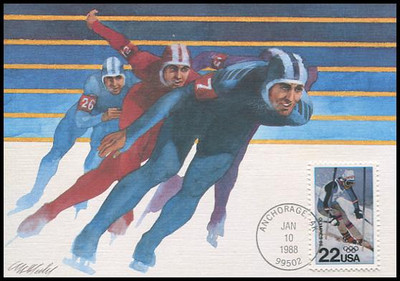 2369 / 22c Winter Olympics 1988 Fleetwood First Day of Issue Maximum Card