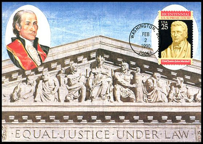 2415 / 25c Supreme Court Constitution Bicentennial Series 1990 Fleetwood First Day of Issue Maximum Card