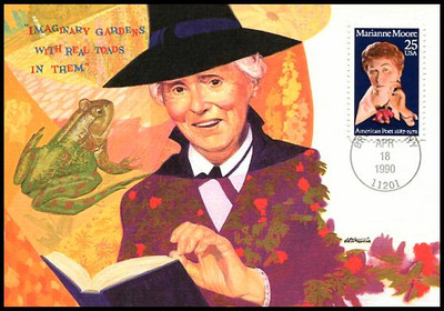 2449 / 25c Marianne Moore Literary Arts Series 1990 Fleetwood First Day of Issue Maximum Card