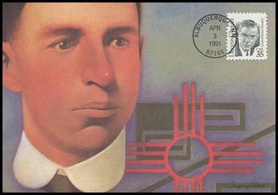 2186 / 35c Dennis Chavez 1991 Fleetwood Maximum Card
