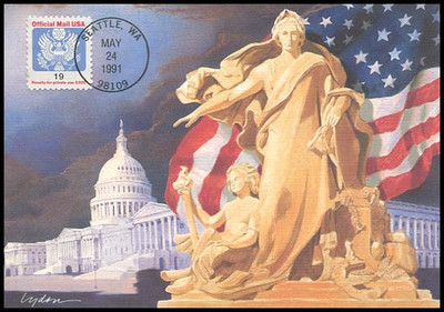 O147 / 19c Official Mail 1991 Fleetwood First Day of Issue Maximum Card