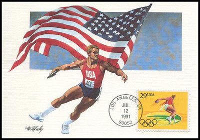 2553 - 2557 / 29c Summer Olympic Games Set of 5 Fleetwood 1991 First Day of Issue Maximum Card