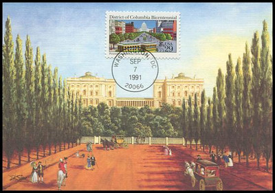 2561 / 29c District of Columbia 1991 Fleetwood First Day of Issue Maximum Card