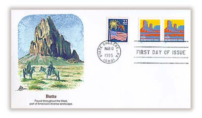 2902 / Butte 5c Non-Denominated Nonprofit Org. Coil Pair 1995 Fleetwood FDC