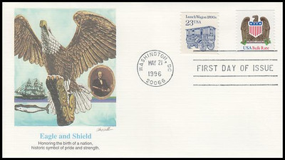 2907 / 10c Eagle and Shield Bulk Rate Coil 1996 Fleetwood FDC