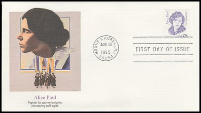 2943 / 78c Alice Paul : Suffragist 1995 Fleetwood FDC