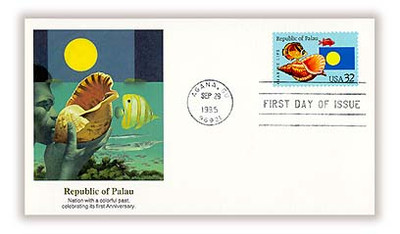 2999 / 32c Republic of Palau Independence Issue 1995 Fleetwood FDC