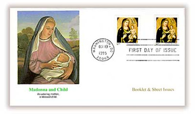 3003 - 3003a / 32c Madonna & Child Sheet & Booklet Issues Combo Christmas 1995 Fleetwood FDC
