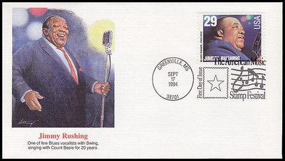 2854 - 2861 / 29c Jazz and Blues Singers Set of 8 : American Music Series 1994 Fleetwood FDCs