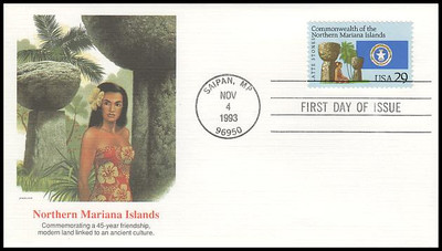 2804 / 29c Commonwealth of the Northern Mariana Islands 1993 Fleetwood FDC