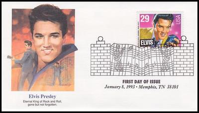 2721 / 29c Elvis Presley : American Music Series 1993 Fleetwood FDC