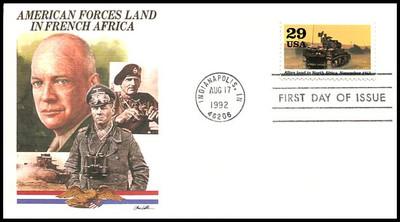 2697a - j / 1942 :  Into the Battle  Set of 10 : World War II / WWII Series 1992 Fleetwood FDCs