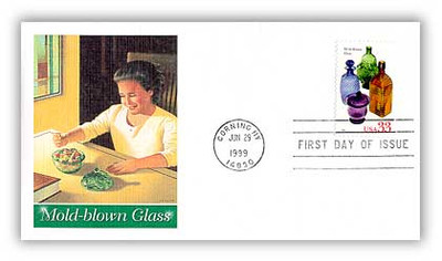 3325 - 3328 / 33c American Glass Set of 4 Fleetwood 1999 First Day Covers