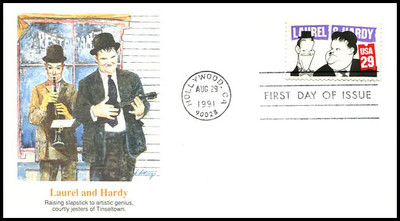 2562 - 2566 / 29c Comedians Set of 5  Fleetwood 1991 First Day Covers
