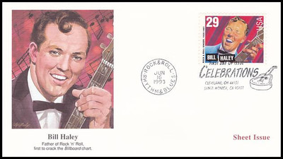2724 - 2730 / 29c Rock & Roll / Rhythm & Blues Musicians Sheet Issue Set of 7 Fleetwood 1993 First Day Covers