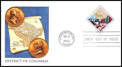 3813 / 37c Washington, District of Columbia 2003 Fleetwood First Day Cover