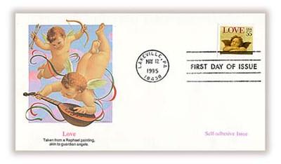 2960 / 55c Love : Cherub Self - Adhesive Issue : Love Stamp 1995 Fleetwood FDC